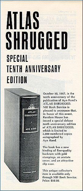 Atlas Shrugged 10th Anniversary Original Advertisement The
